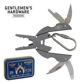 ジェントルマンハードウェア ポケットマルチツールプライヤーチタン仕上げ Gentlemen's Hardware Titanium Pocket Pliers Multi Tool GEN167 ペンチ ドライバー キャンプ アウトドア フェス【正規品】