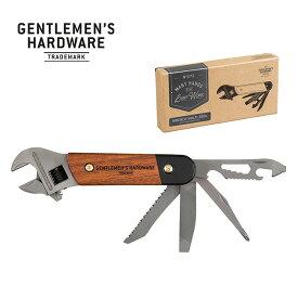 ジェントルマンハードウェア レンチマルチツールウッドハンドル&チタン仕上げ Gentlemen's Hardware Wrench Multi Tool GEN275 のこぎり 六角レンチ キャンプ アウトドア フェス【正規品】