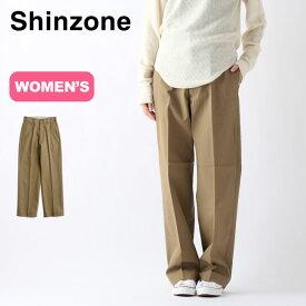 シンゾーン ハイウエストチノパンツ Shinzone HIGH WAIST CHINO PANTS レディース 20SMSPA58 ボトムス パンツ ロングパンツ 長ズボン The Shinzone 【正規品】
