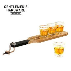 ジェントルマンハードウェア サービングパドル&ショットグラス Gentlemen's Hardware Serving Paddle & Shot Glasses GEN149 キャンプ アウトドア フェス【正規品】