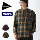 アンドワンダー サーモネルチェックプルオーバーシャツ and wander thermonel check pullover shirt メンズ 574028307…