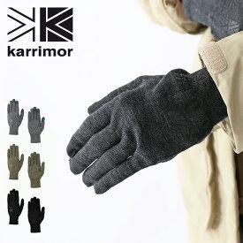 カリマー ウールロゴグローブ karrimor wool logo glove 手袋 グローブ ウール 防寒具 スマホ対応 タッチパネル対応 <2020 秋冬>