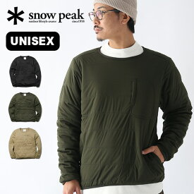 スノーピーク フレキシブルインサレーションプルオーバー snow peak Flexible Insulated Pullover メンズ レディース ユニセックス SW-20AU002 トップス アウター ミッドレイヤー 長袖 中綿 キャンプ アウトドア 【正規品】
