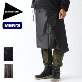 アンドワンダー シルスカート and wander sil skirt メンズ 5741912003 ボトムス スカート レインウェア キャンプ アウトドア フェス【正規品】