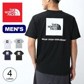 【SALE】ノースフェイス S/S バックスクエアロゴTee メンズ THE NORTH FACE S/S Back Square Logo Tee メンズ NT32144 トップス カットソー プルオーバー Tシャツ キャンプ アウトドア【正規品】