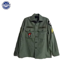 BuzzRickson's D.M.Z.ミリタリーシャツG-107ユーティリティーユニホームSHIRT,MAN'S,COTTON SATEEN,OLIVE GREEN SHADE 107 DEMILITARIZED ZONE BR28662(バズリクソンズ)Buzz Rickson's MADE IN JAPAN(日本製)(ジョンレノンモデル)
