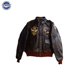 """Buzz Rickson's 75th FTR.SQ.""""FLYING SHARK""""パッチレザーTYPE A-2""""BUZZ RICKSIN CLOTHING CO.""""18775-P PATCH BR80543(バズリクソンズ)BuzzRickson's"""