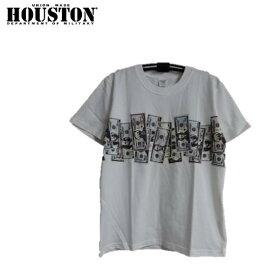 セール HOUSTON ドル札柄プリントTシャツ#21602 PRINT TEE($)(ヒューストン)