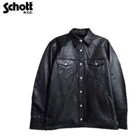 セールSchottラムレザーシャツLAMB LEATHER SHIRT 3111029 Schottショット レザージャケット
