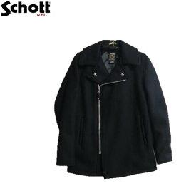 Schott 779米国製フロントジップウールピーコート(NAVY)☆ZIP FRONT WOOL PEA COAT Schottショット7505-87ピーコートPコートMADE IN U.S.A.