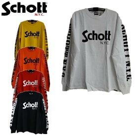 セールSchottショットロゴ長袖Tシャツ★LONG SLEEVE T-SHIRT BASIC SCHOTT LOGO 3183020☆ショット