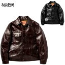 """SUGAR CANEホーウィンホースハイドレザージャケット """"Made in USA"""" HORWEEN HORSEHIDE LEATHER JACKET SC80568(シュ…"""