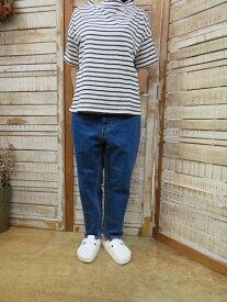 tumugu:★12OZ ムラ糸デニム テーパードパンツ ブルー TP11101-C(ツムグ)【smtb-k】