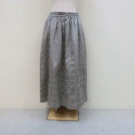 tumugu:コットンサテンサークル刺繍 スカート ♪ TB21146オケージョンツムグ