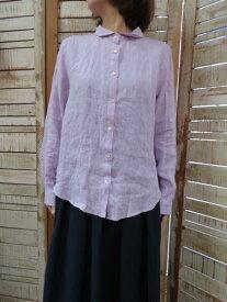 yarra★リネンベーシックシャツ(ブラウス) YR-05-326B (ヤラ)