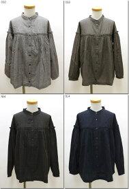 ●SUN VALLEY 【サンバレー】 コットンウール平織起毛ヨークギャザースタンドシャツ プルオーバー  SK8135180