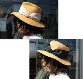 ●Abu 【アブ】 縁ラメ使いグログランハット 中折れハット 帽子 リボン NH-066