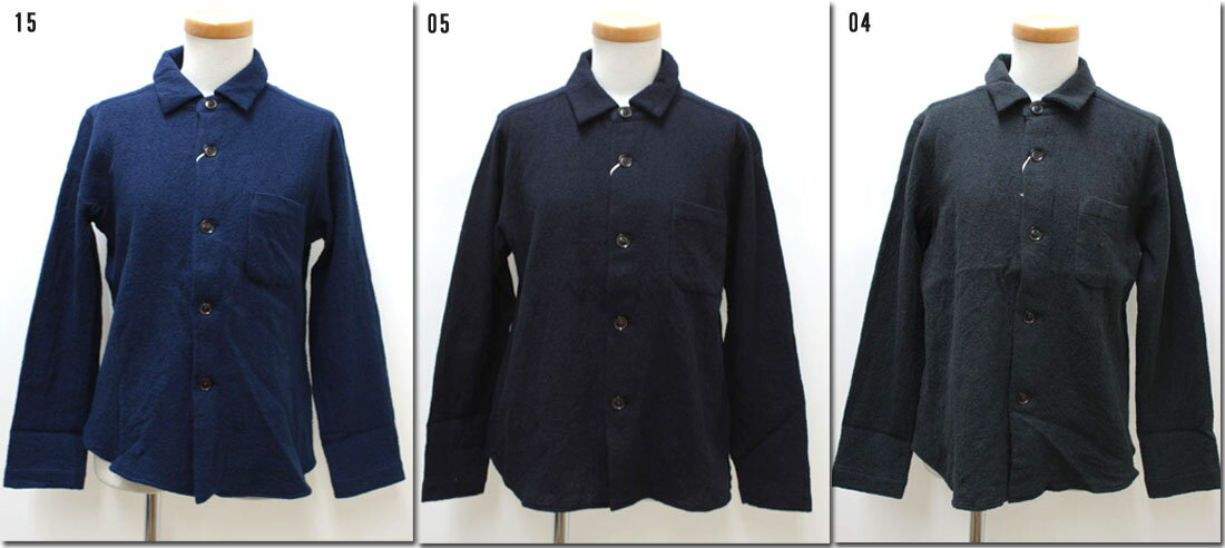 ●RINEN  【リネン】 2/48ウールガーゼレギュラーカラーシャツ 30611