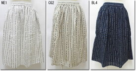 ●SUN VALLEY 【サンバレー】 21綿麻総柄プリントスカート SK2060175