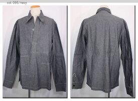 ●DENIME 【ドゥニーム】  ヘリンボーン長袖プルオーバーシャツ 178-83018