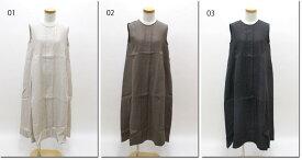 ●OUVERT 【ウーヴェル】 1/60 JAPAN LINEN Twill C.C加工 ノースリーブワンピース 2120132