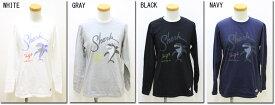 ●LUMBER 【ランバー】 プリントロングTシャツ shark サメ ユニセックス 男女兼用 173135