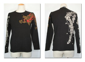 ●ETERNAL エターナル 龍刺しゅう長袖Tシャツ 24830