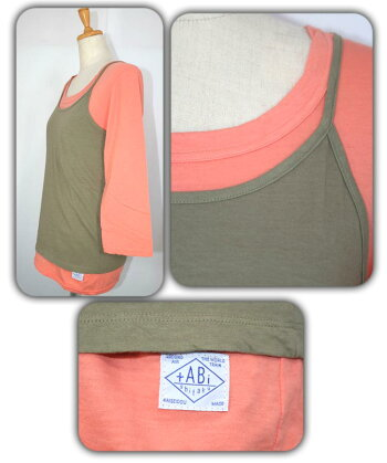快晴堂かいせいどう七分袖Tシャツxキャミセット81C-76