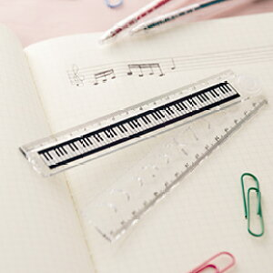 Piano line 折りたたみ定規♪お取り寄せ商品です。♪♪ 【ピアノ発表会 記念品 に最適♪】音楽雑貨 ねこ雑貨 バレエ雑貨 ♪記念品に最適 音楽会粗品