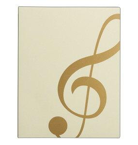 ミュージックレッスンファイル ト音記号 アイボリー★有料名入れ可能 ♪お取り寄せ商品です。♪♪ 【ピアノ発表会 記念品 に最適♪】音楽雑貨 ねこ雑貨 バレエ雑貨 ♪記念品に最適 音