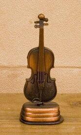 アンティークシャープナー[レトロ バイオリン]鉛筆削り♪お取り寄せ商品です♪【音楽雑貨 音符・ピアノモチーフ】【バレエ発表会の記念品に最適♪】お取り寄せ 大量注文できます♪音符 ト音記号 楽譜