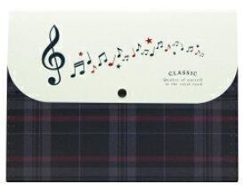 5ポケットフォルダー A4 CLASSIC ト音記号 お取り寄せ商品 ピアノ発表会 記念品 音楽雑貨 ねこ雑貨 バレエ雑貨 記念品に最適 音楽会粗品