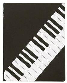 ミュージッククリアホルダー 鍵盤♪お取り寄せ商品です♪【ピアノ発表会記念品に最適♪】音楽雑貨 音楽グッズ 吹奏楽部 ブラスバンド 記念品 楽譜柄 ピアノ発表会記念品