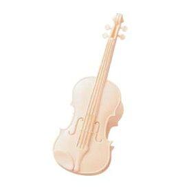 バイオリンクリップ アイボリー♪♪お取り寄せ商品です♪【ピアノ発表会記念品に最適♪】音楽雑貨 音楽グッズ 吹奏楽部 ブラスバンド 記念品 楽譜柄 ピアノ発表会記念品