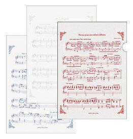 トリコロール ファイル3枚セット♪※この商品はお取り寄せ商品です♪【バレエ発表会の記念品に最適♪】お取り寄せ 大量注文できます♪音符 ト音記号 楽譜