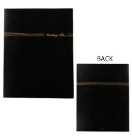 ライティングファイル ベーシックブラック ♪お取り寄せ商品です♪【音楽雑貨 音符・ピアノモチーフ】【バレエ発表会の記念品に最適♪】お取り寄せ 大量注文できます♪音符 ト音記号 楽譜