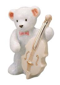 ベアー マスコット ホワイト コントラバス 楽器♪※この商品はお取り寄せ商品です♪【バレエ発表会の記念品に最適♪】お取り寄せ 大量注文できます 1万円以上同商品注文でラッピング無料です♪