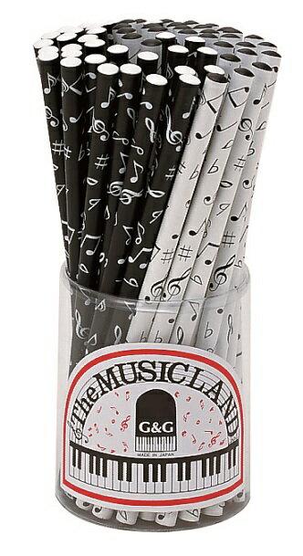 鉛筆 音符 HB 1本 ♪※色指定はできません。※この商品はお取り寄せ商品です♪【バレエ発表会の記念品に最適♪】お取り寄せ 大量注文できます ♪