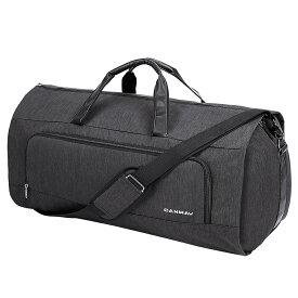 送料無料 CANWAYガーメントバッグ ダッフルスーツカバー 週末バッグ フライトバッグ ビジネス 洋服コートドレスカバー 型くずれ防止 防水防塵 軽量 靴収納 ポケット付き