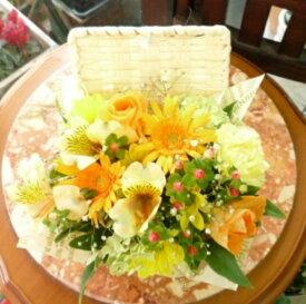 母の日 遅れてごめんね 誕生日 プレゼント 花 フラワーギフト 生花 フラワーアレンジメント バスケット Mサイズ