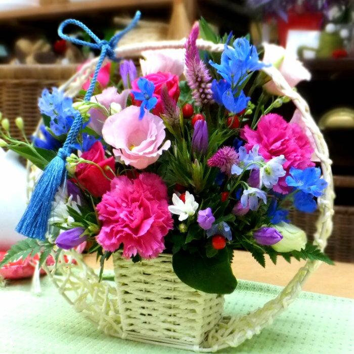 長寿のお祝い ギフト 桃紫和風アレンジ 花プレゼント還暦 古希 喜寿 傘寿 米寿 卒寿 白寿 銀婚式 金婚式 誕生日 長寿祝い