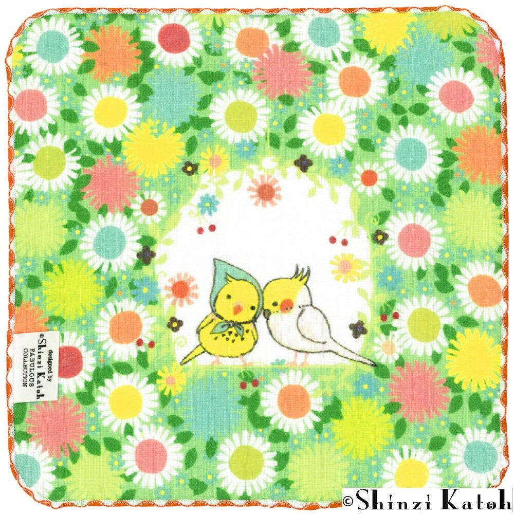 【ShinziKatoh】秘密の花園 タオルハンカチ【あす楽対応_東北】【あす楽対応_関東】【あす楽対応_甲信越】【あす楽対応_北陸】【あす楽対応_東海】【あす楽対応_関西】