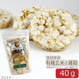 賞味期限2021/3/17【尾田川農園】サクサク有機玄米と雑穀 40g(約20枚入り)