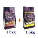 フィッシュ4ドッグ サーモン小粒1.5kg+オーシャンホワイトフィッシュ小粒1.5kg 各1個 合計3kg(1.5kg×2個) 【あ…