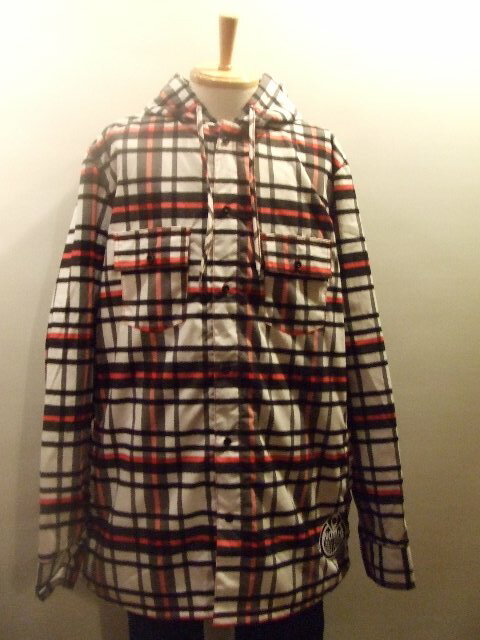【10%OFF】nomis DWR RIDING FLANNEL ボタンシャツ カラー: ELECTRIC RED サイズ:XL