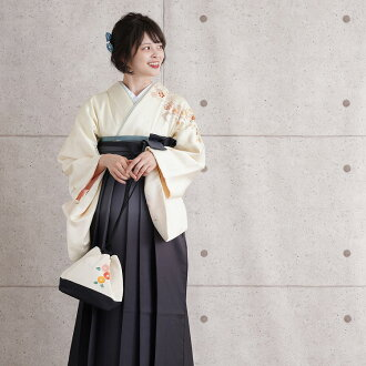 The full set yellow yellow plum that visiting dress pure silk fabrics petticoat costumes for rent sandals specialized in a round-trip hakama set rental woman hakama graduation hakama graduation ceremony woman hakama set kimono rental teacher staff of a s