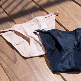 水着 みずぎ スウィムウェア swimwear プール ナイトプール 海 ビーチ 海水浴 ヌードカラー ヌーディー ブラック サイドストリング インナー アンダーショーツ 水着用インナー 水着用ショーツ パンツ ボトム  衛生的