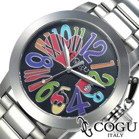 コグ腕時計 [COGU時計](COGU 腕時計 コグ 時計) マルチカラー 時計 ブラック CHS-BKC [当店限定先行受注アイテム ギフト プレゼント ご褒美 おしゃれ ]