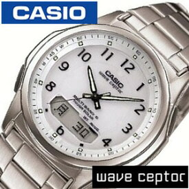 カシオ ウェブセプター 腕時計 CASIO時計 CASIO WAVE CEPTOR 腕時計 カシオウェーブセプター 時計 ソーラー電波腕時計 MULTIBAND6 腕時計 メンズ ソーラー電波 防水 ホワイト 白 WVA-M630D-7AJF[ おしゃれ ブランド ] 新生活 プレゼント ギフト