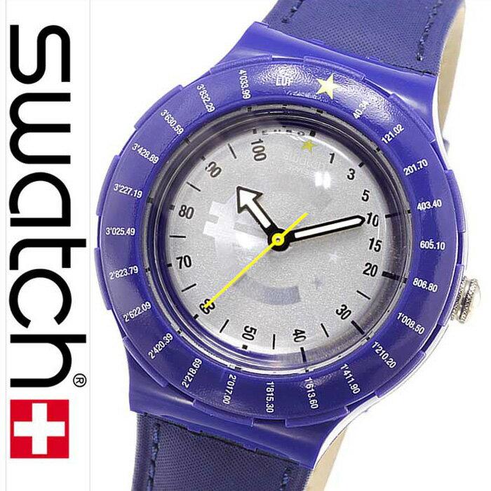 スウォッチ腕時計 Swatch時計 Swatch 腕時計 スウォッチ 時計 オリジナルズ コンバーター Originals CONVERTER シルバ− SDZ103 [swatch スイス製 ネイビー ギフト プレゼント ご褒美][おしゃれ 腕時計]